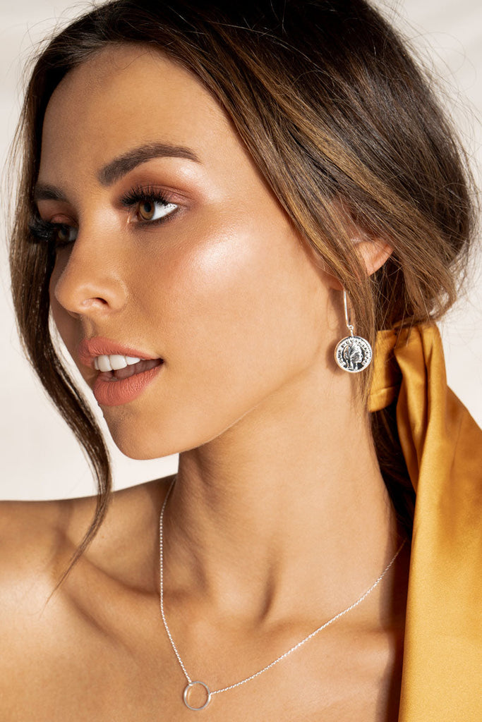 CLIO COIN EARRINGS Accessories JOLIE & DEEN O/S SILVER