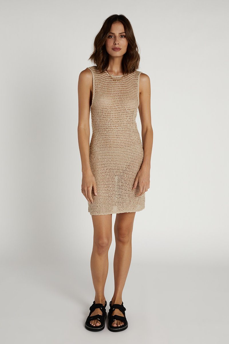 NUDE LUCY ELLIS OAT KNITTED DRESS Clothing DISSH Boutiques XS OAT