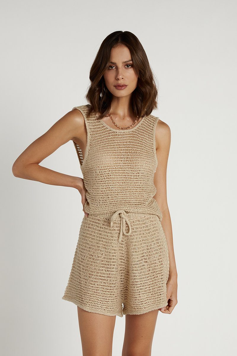 NUDE LUCY ELLIS OAT KNITTED SHORT Clothing DISSH Boutiques M OAT