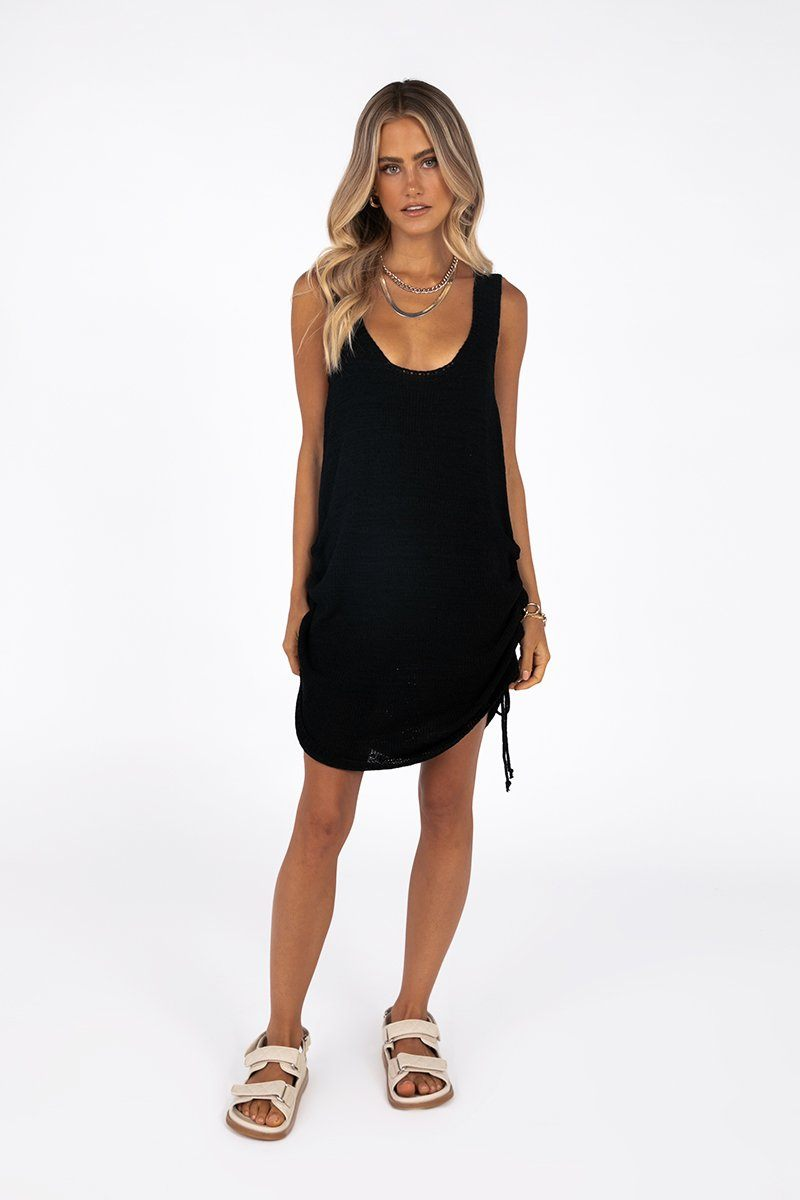 SNDYS BYRON BLACK DRESS Clothing DISSH Boutiques XS BLACK