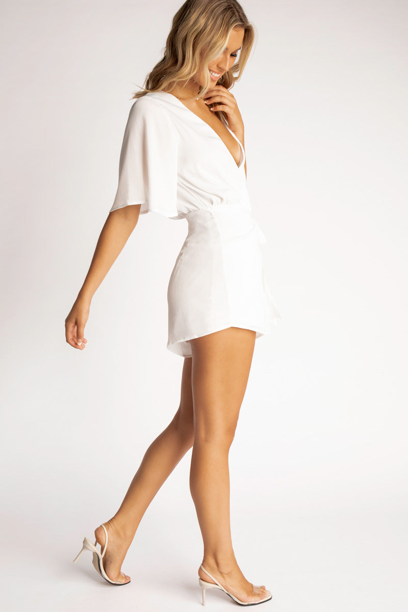 86db8b8099 ... OUT OF OFFICE WHITE WRAP PLAYSUIT Clothing DISSH Boutiques ...
