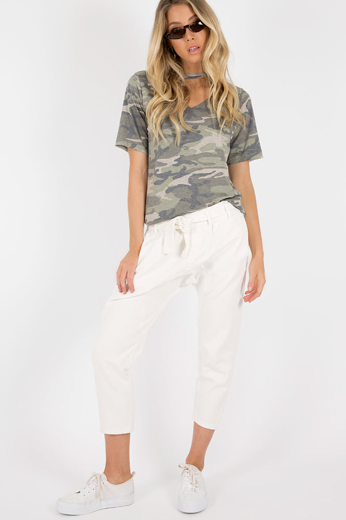 SERIAL CHILLER DROP CROTCH PANT Clothing DISSH Boutiques 6 WHITE