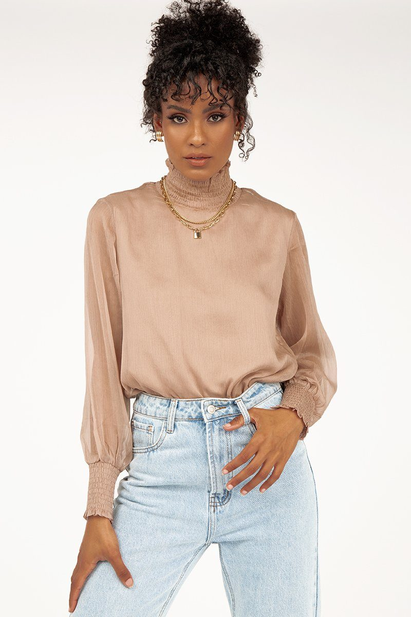 ITS YOU MUSHROOM HIGH NECK TOP Clothing DISSH Boutiques 6 MUSHROOM