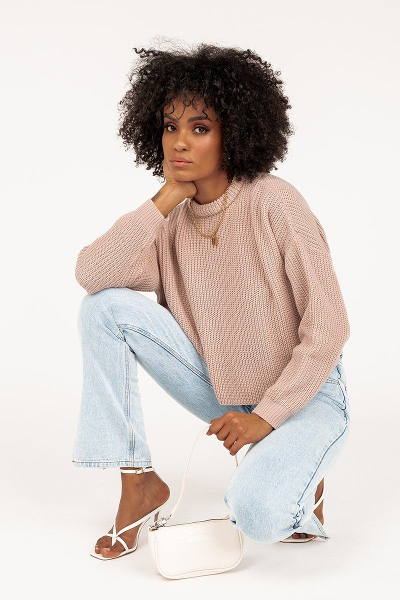 DAWN COSMETIC PINK CROPPED KNIT