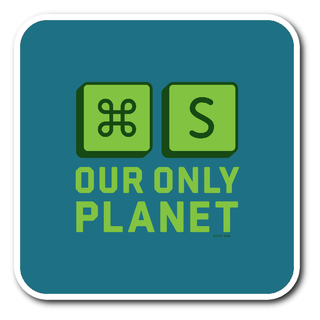 MAC_SAVE PLANET - Sticker