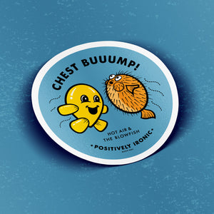 HOT AIR & THE BLOWFISH - Sticker