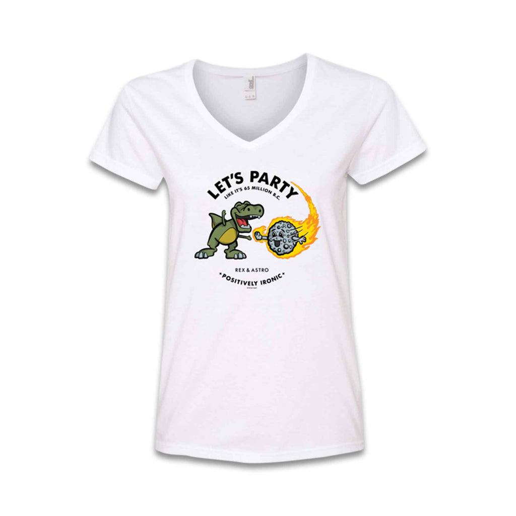 REX & ASTRO - Tee-Ladies_White