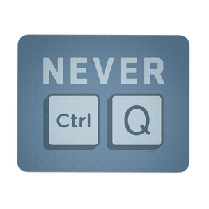 PC_NEVER QUIT - Mouse Pad