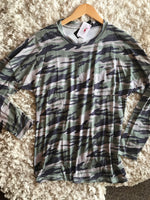 Camo Pocket Long Sleeve Top