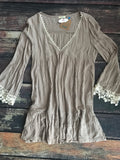 Lace Vneck Dress