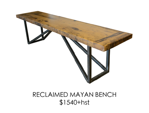 Reclaimed, urban, bench, steel, epoxy, rustic, home, wood, custom, eco friendly