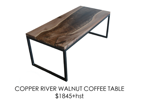 Walnut, river, coffee table, urban, steel, epoxy, rustic, home, wood, custom, eco friendly