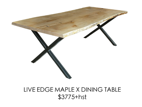 taple, table, urban, steel, live edge, rustic, home, wood, custom, eco friendly