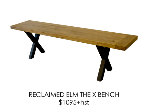 Reclaimed, bench, urban, steel, rustic, home, wood, custom, eco friendly