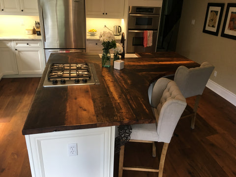rustic, reclaimed barn wood, epoxy, character, counter top, kitchen, custom, character, home