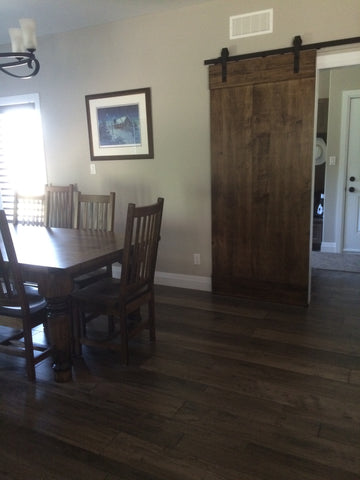 Wormy Maple Sliding Barn Door