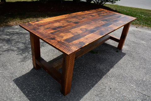 Rustic Reclaimed Barn Wood Harvest Table