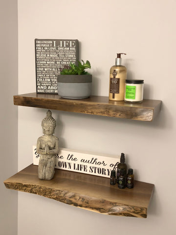 reclaimed barn wood, urethane, floating shelf, shelf, rustic, character, kitchener, local