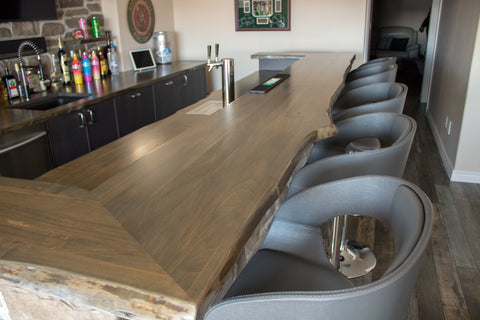 live edge, rustic, wormy maple wood, epoxy, character, counter top, kitchen, custom, character, home