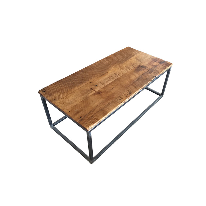 Custom Wood & Metal/Steel Coffee Table made from Reclaimed Local Canadian Barn Wood & Live Edge, Walnut, Oak, Ash, Cherry & Maple Wood.