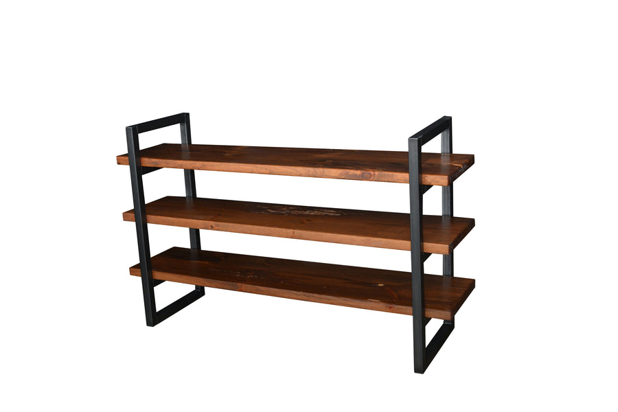 Custom Industrial Shelving Unit made from Reclaimed Barn Wood & Canadian Steel