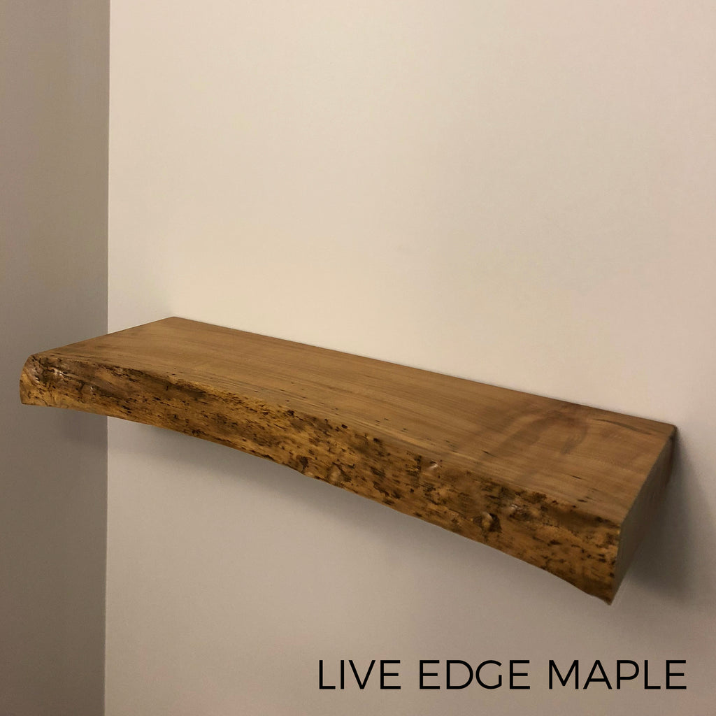 Live Edge Floating Shelf Shelves Custom Made from Reclaimed Barn Wood Walnut Maple Local Toronto Kitchener Waterloo Guelph Hamilton Burlington Niagara Oakville Mississauga MiltonLive Edge Floating Shelf Shelves Custom Made from Reclaimed Barn Wood Walnut Maple Local Toronto Kitchener Waterloo Guelph Hamilton Burlington Niagara Oakville Mississauga Milton