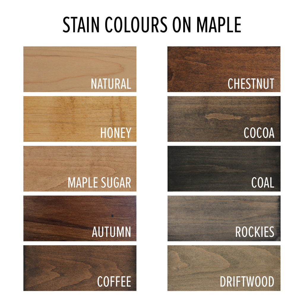 stain colour choice on maple wood