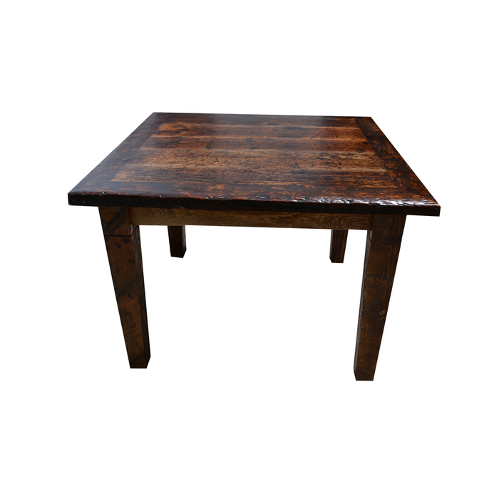 Build your table the way you want it. Custom Wood Parson Harvest Base Dining Table made from Reclaimed Local Canadian Barn Wood & Live Edge, Walnut, Oak, Ash, Cherry & Maple Wood.