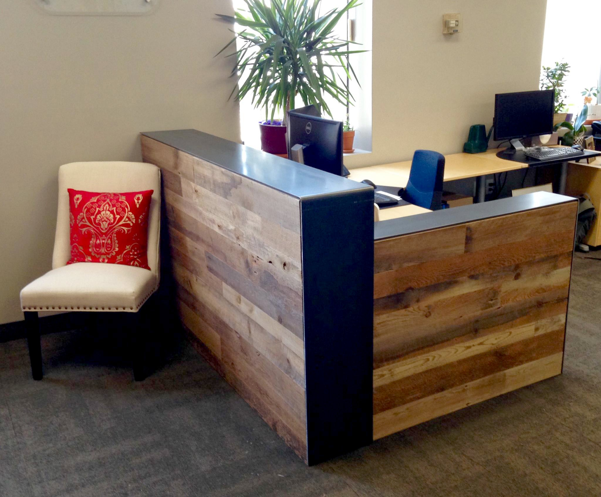 custom office reception desks