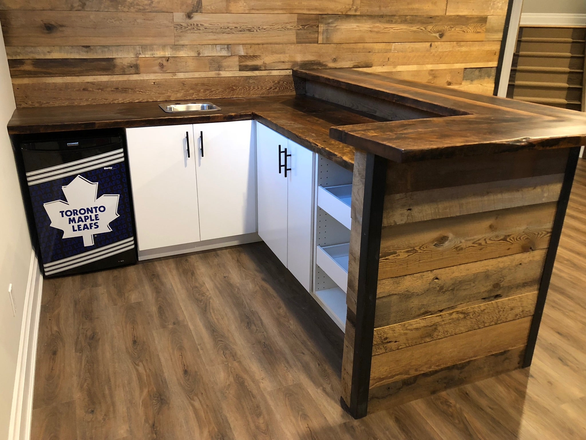 Reclaimed Barn Wood With Matte Epoxy Finish