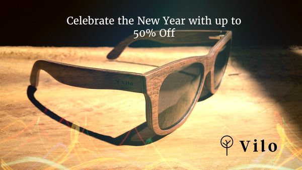 Vilo wood watch and wood sunglasses sale