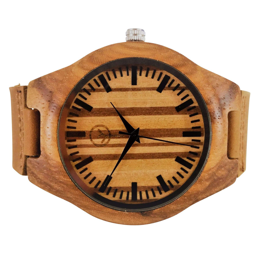 Vilo Mens Wooden Watch // Zebrawood: