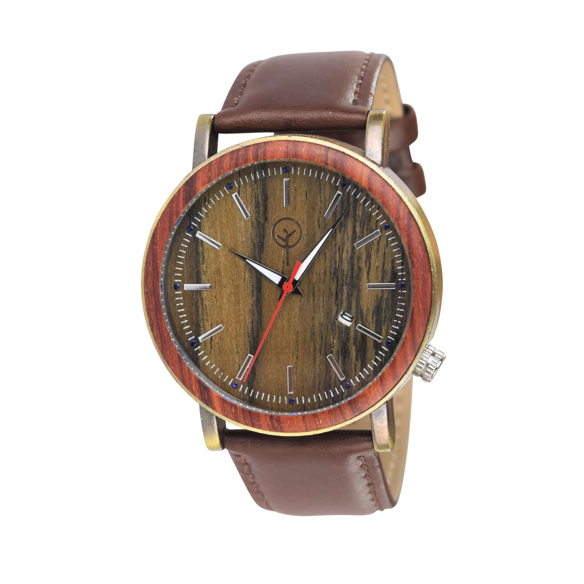 Vilo Mens Wooden Watch // Tiger Eye: