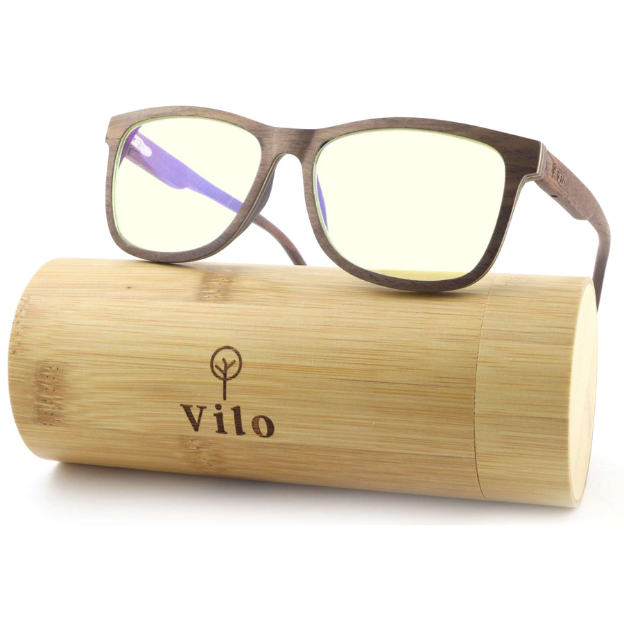 Vilo Bluelight Wooden Glasses - Cortez: