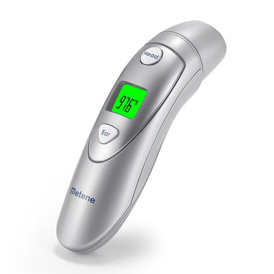 Metene Medical Forehead and Ear Thermometer,Infrared Digital Thermometer Suitable For Baby, Infant, Toddler and Adults with FDA and CE approved - LENCOO