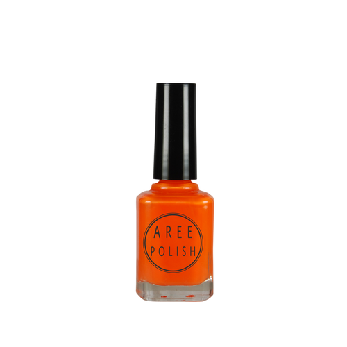 Punk God-neon orange creme nail polish