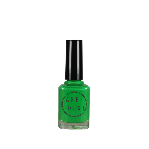 Psychobilly-neon green creme nail polish