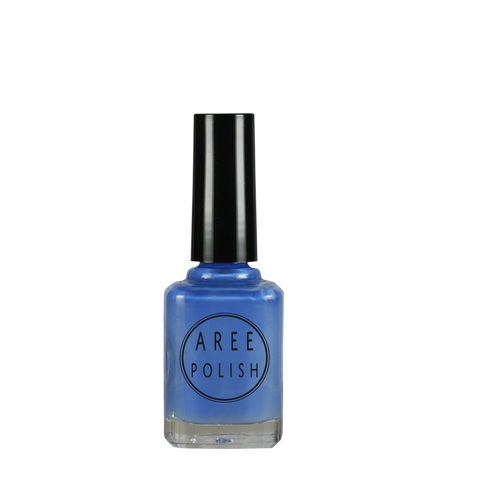 Blue suede shoes-blue creme nail polish
