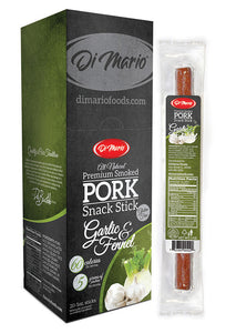 Garlic & Fennel Premium Smoked Pork Snack Stick