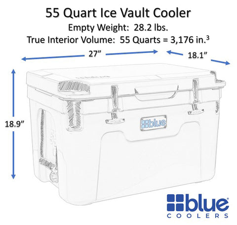 exterior of the 50 inch cooler