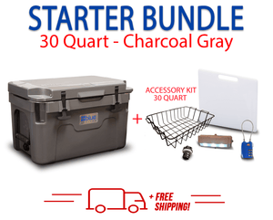 Blue Coolers 2.0 - 30 Quart Starter Bundle - Accessories