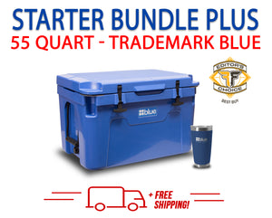Blue Coolers 2.0 - 55 Quart Starter Bundle PLUS