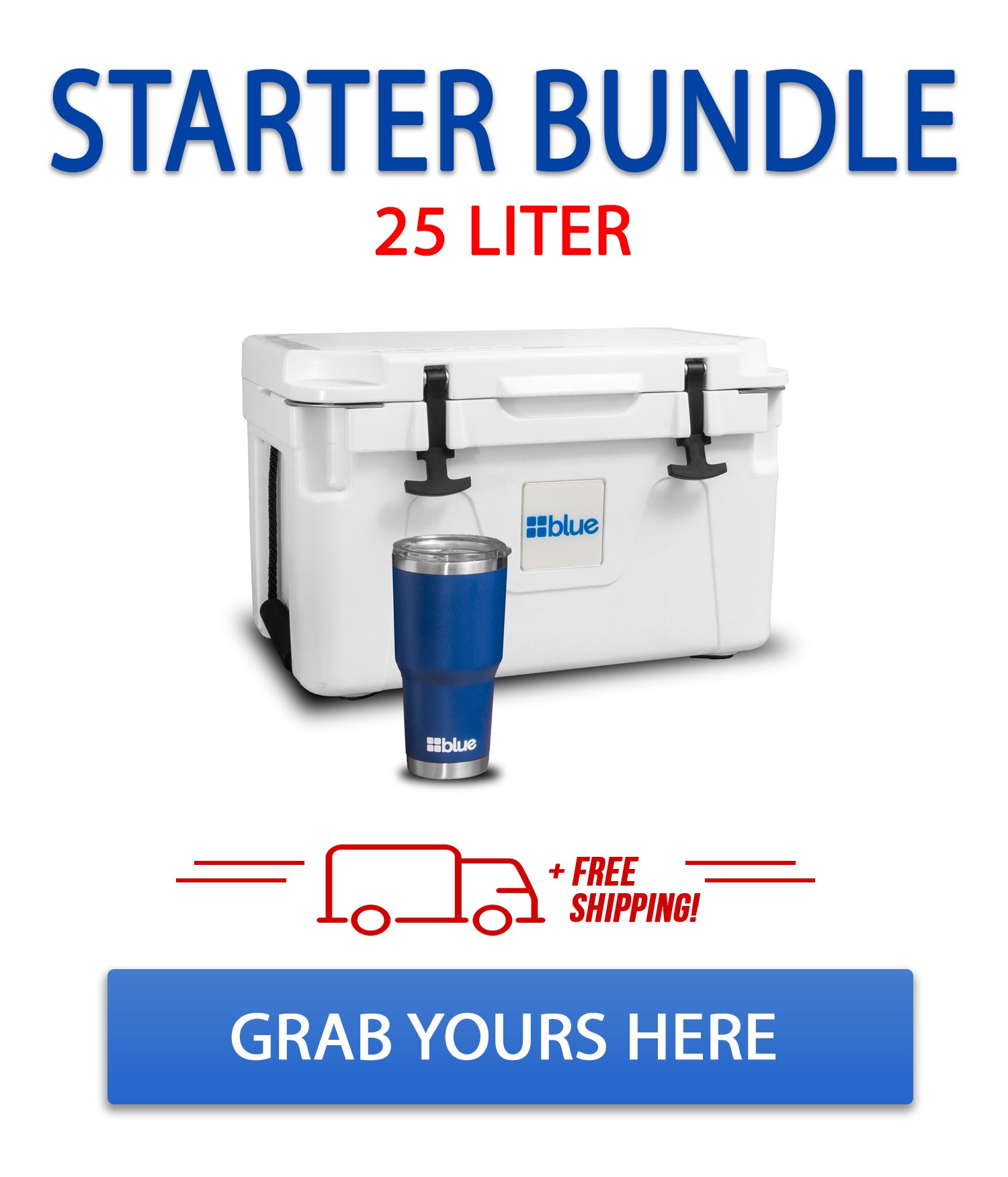 V. 1.0 - Blue Coolers 25 Liter Starter Bundle