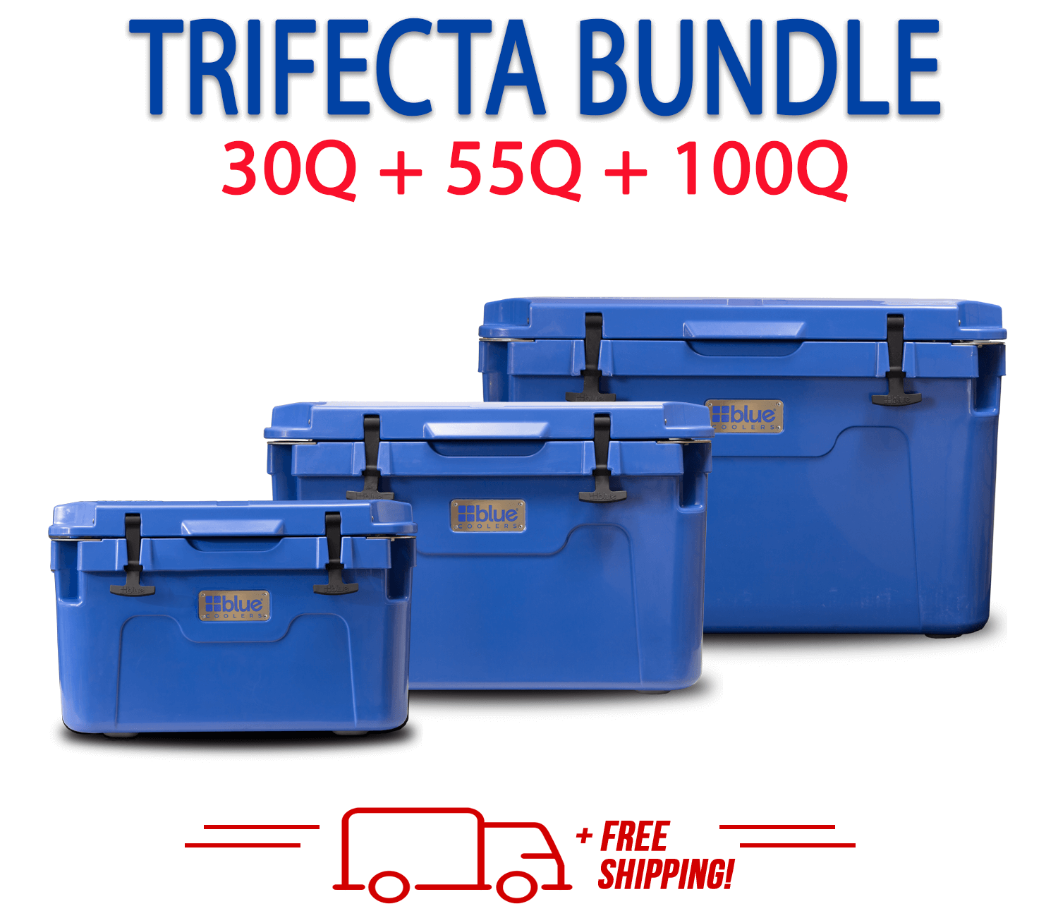 Blue Coolers 2.0 - Trifecta Bundle - 30Q+55Q+100Q