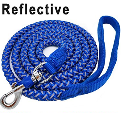 (AK, HI, PR Only) Mycicy Rope Dog Leash - 6 foot Reflective Dog Leash - Mountain Climbing Nylon Braided Heavy Duty Dog Training Leash for Large and Medium Dogs Walking Leads - Blue