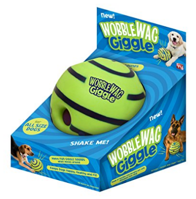 (AK, HI, PR Only) Allstar Innovations Wobble Wag Giggle Ball, Dog Toy, As Seen on TV