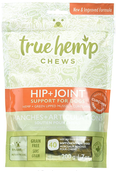(AK, HI, PR Only) True Leaf Pet 40 Count Hemp Chews for Dogs - Hip & Joint