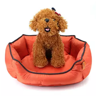 18'' Dog Bed Waterproof Washable Hardwearing Pet Basket Mat Cushion Orange