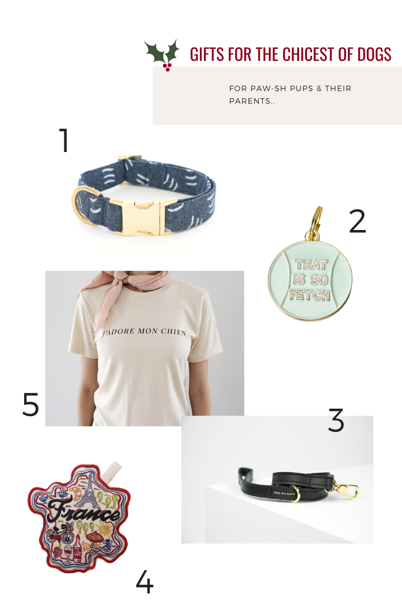 Gifts for the Chicest of Dogs Hunter & June Holiday Gift Guide 2019