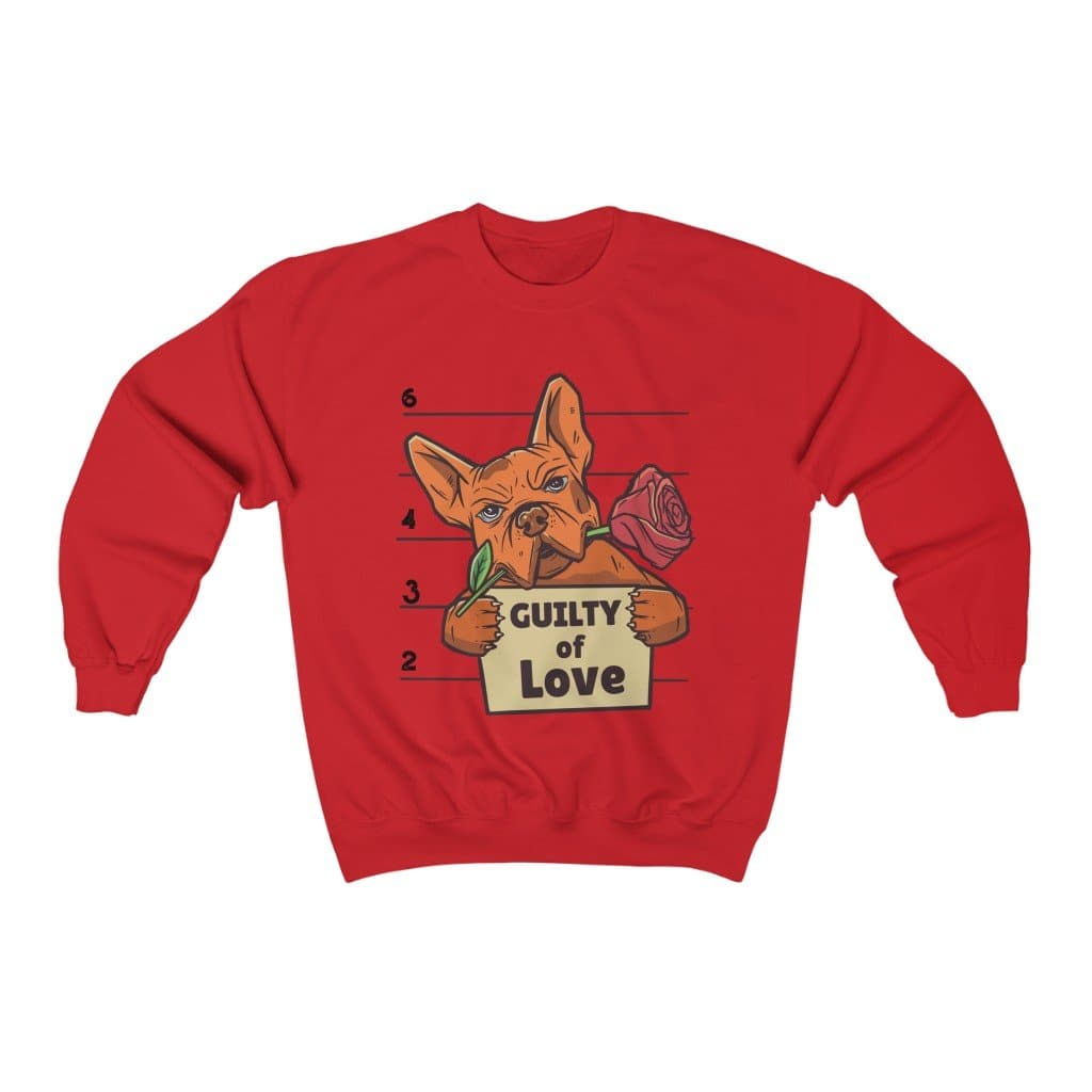 Bulldog Guilty of Love Unisex Heavy Blend Crewneck Sweatshirt